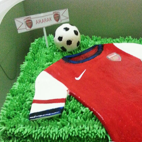 Pandan Layer Cake Football Theme Birthday Cake Wedding Gift
