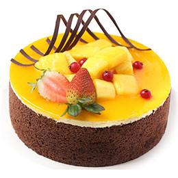 Brownie, Polenta Mango Cheese, Double Chocolate Cake, Dark