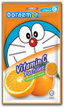 Doraemon Vitamin C Pastille-  Orange