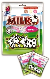 Milko Mini Bites Candy - Strawberry